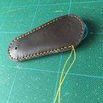 栃木レザーと100均グッズで作る!革製靴べらの作り方 その3 手縫い編